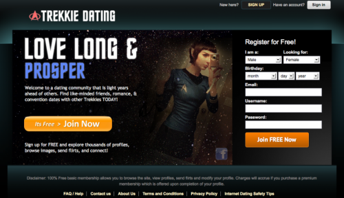 trekkie dating The ugly reality of online dating adrian braxton june 4, 2017   even if you did, there are seven thousand other trekkie guys just like you lined up to meet her,.