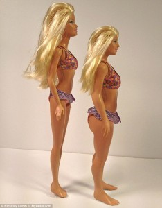 Barbie unreal und Barbie real